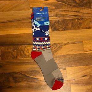 Brooks Pacesetter Ugly Christmas Sweater Socks